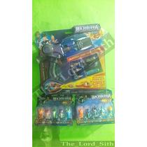 Paquete Bajoterra De Slugterra 10 Babosas Pistola Azul