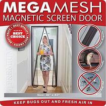 Puerta De Pantalla Magnética - Heavy Duty Malla Y Velcro Se