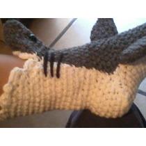 Pantufla De Tiburón Tejida