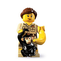 Lego 8805 Minifigure Serie 5 Cuidadora Del Zoologico !!!! Mm
