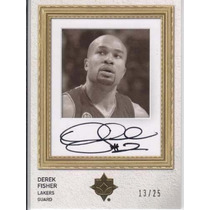 2008-09 Uc Pro Portraits Autografo Derek Fisher 13/25 Lakers