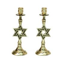 Candelero De Shabbat Con Estrella De David