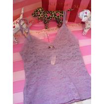 Victoria´s Secret The Purple Lacie Top Sz:s Mdn