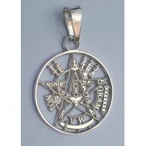 Dije De Tetragramaton Pentagrama En Plata Fina Ley.925 24mm
