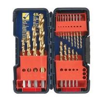 Bosch Ti18 18 Piezas Torcedura Titanium Broca Set Con Caja D
