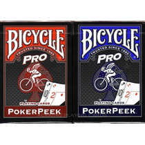 2 Mazos De Cartas Poker Bicycle Pro Poker Peek Rojo Y Azul