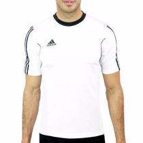 Playera Adidas Blanca Para Ejercicio Gym Futbol, Hombre
