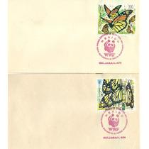 L505-méxico 4 Sobres 1er Día Mariposa Monarca Sin Diseño-