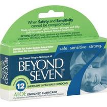 12 (doce) Condones Beyond Seven Aloe Preservativos