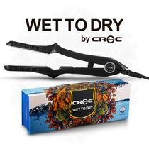 Plancha Para Cabello Croc Wet To Dry (húmedo Ó Seco) Negra