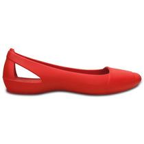 Zapato Crocs Dama Crocs Sienna Flat Rojo