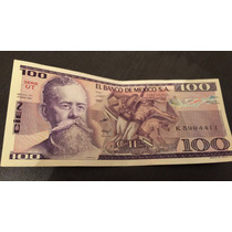Billete Antiguo 100 Pesos Carranza 1982