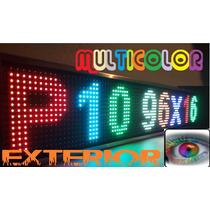 Led Display Anuncio Pantalla P10 Rgb Multicolor Programable