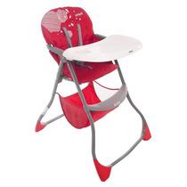 Silla Alta Ez Bite Plegable Hexagon Rojo Infanti