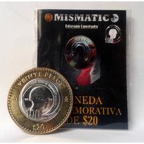 Moneda $20 Pesos Ejercito Mexicano Sedena Exclnte Condición.