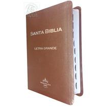 Biblia Letra Grande Imitación Piel Indice Café Rvr60
