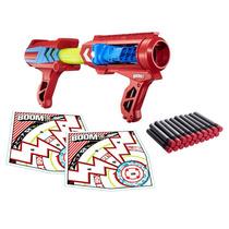 Pistola Boomco Mad Slamer Mattel 20 Dardos 22m Dist Lanzador