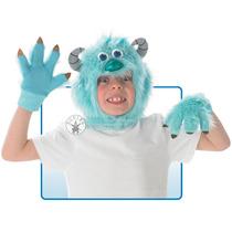 Monsters Inc Traje - Sulley Headpiece Y Guantes Niños