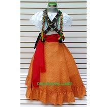 Falda Adelita Disfraz Blusa Revolucion Mex Niñas Vestido