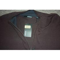 Murano Sweater Mod Expresso 1/4 Zip De Lujo Nuevo