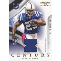 2009 Nt Century Prime Patch Joseph Addai 21/50 Rb Colts
