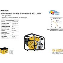 Moto Bomba Para Agua 5.5 Hp 2x2 350 L/min Pretul Dizome