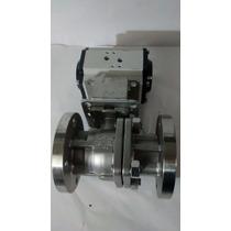 Valvula Esfera De 2 Acero Inoxidable Con Actuador Neumatico