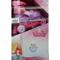 Patines De Princesas De Disney Para Niñas Talla 18-21