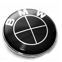 Emblema Bmw Cofre Escudo Negro 82mm Logo X1 X3 X5 X6 Z3