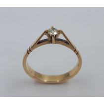 Anillo De Oro 14k Con Diamante 0.27 Quilates Letra I P1