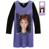 Pijama 10/12 Anos Nina Justin Bieber Camison Con Regalito Ve