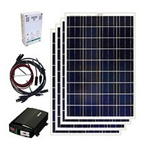 Grape Solar, Kit De 4 Páneles Solares De Sistema Aislado