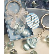 Recuerdos Para Baby Shower - Llavero De Chupón Azul Y Rosa