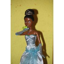 Princesa Tiana Barbie Que Habla Disney Con Luces En Vestido