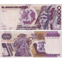 Billete De 50 Mil Pesos Cuahutemoc Excelente Diseño! !!