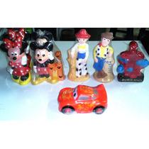 Alcancias - Micky Minnie Toystory Cars Mcqueen Rapunzel