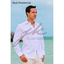 Guayabera Yucateca Presidencial Doble Puño Lino Italiano Lbf