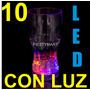 10 Vasos Con Luz Para Fiesta Eventos Boda Xv Luminoso Led