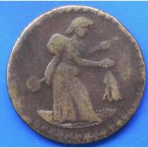 Moneda 1/8 De Real Patzcuaro Bronce Muy Escasa Excn