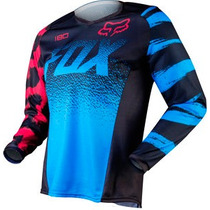 Jersey Fox Racing 180 2015 Mujer Mx/offroad Negro/azul Lg