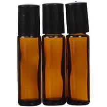Aromaterapia - Botella De Vidrio Ámbar Con Roll On Aplicador