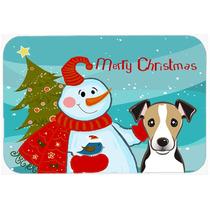 Muñeco De Nieve Con Jack Russell Terrier De La Cocina O El