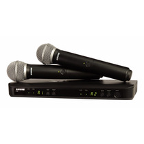 Shure Blx288/pg58 Sistema Inlámbrico Doble Micrófono De Mano