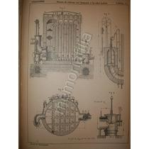 Grabado Antiguo Hornos De Aire Altos Hornos 1895 Zxcm