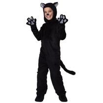 Disfraz Gato Negro Niño Pantera Negra Halloween Primavera
