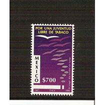 1990 Mexico Por Una Juventud Libre De Tabaco Sello Nuevo