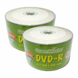 50 Dvd Imprimible Green Master 4.7 Gb 16x Facturado Full