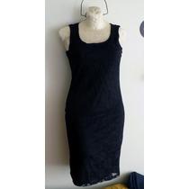 Vestido De Encaje Con Forro Negro Talla Chica Hm4