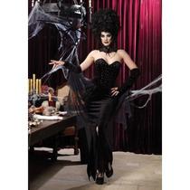 Leg Avenue Disfraz Reina Vampira Terciopelo Largo 3 Piezas