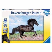 Rompecabezas Ravensburger 200 Piezas Caballo Negro 12803